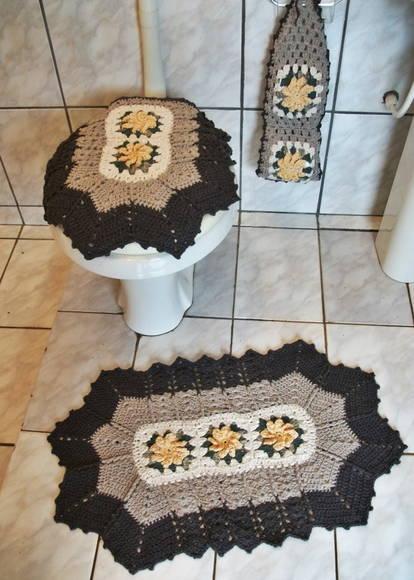 Jogo De Banheiro Marrom E Amarelo : Jogo de banheiro marrom elaine carlini elo