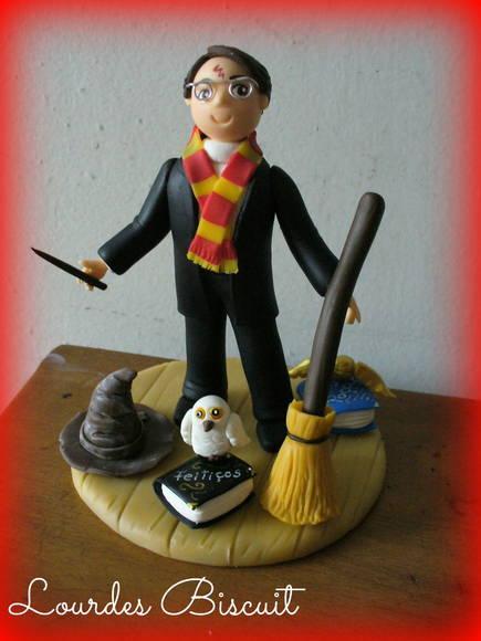 Aparador Sala De Jantar Rustico ~ Topo de bolo Harry Potter Lourdes artesanato em biscuit Elo7