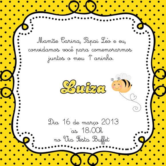 Convite Abelhinha Quadradinho No Elo7 Loja Criativa Presentes 2e7b1e