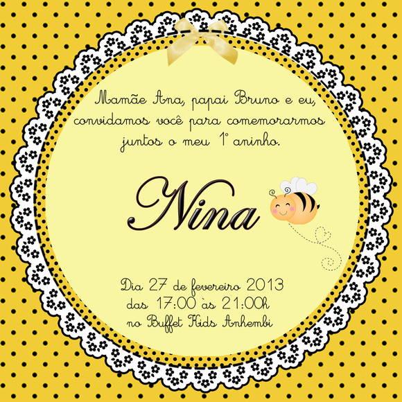 Convite Abelhinha No Elo7 Loja Criativa Presentes 2e7b29