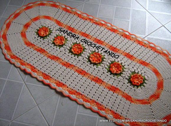 Início > Decoração > Tapete > Passadeira Em Crochê 6 flor dália