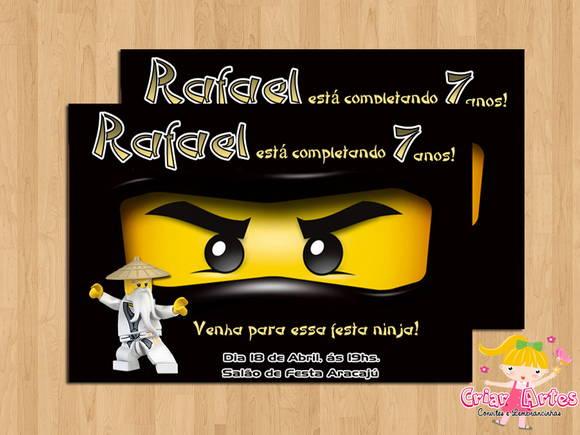 Convite Ninjago No Elo7 Criar Artes 2e9d23