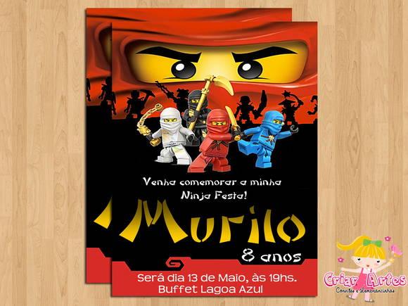 Convite Ninjago Duelo No Elo7 Criar Artes 2e9d27
