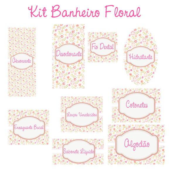 Kit Banheiro Casamento Floral : Kit banheiro no elo dridri artes ec