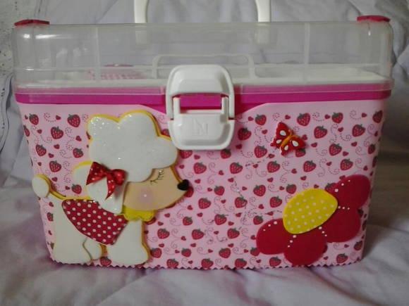 maleta plastica decorada em eva grande coisinhas de knik