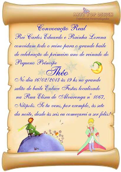 Convite Pergaminho Pequeno Principe No Elo7 Arte Top Design