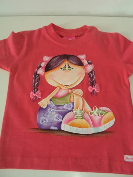 Camiseta infantil vanessa araujo elo7 - Pintura para camisetas ...