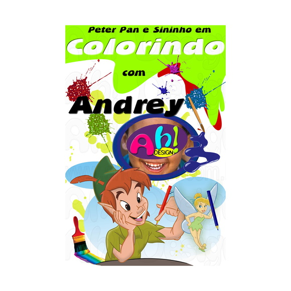 Revista de Colorir - Peter Pan e Sininho