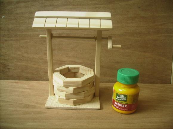 Poço de madeira (pinus) no Elo7 MAR Artefatos Gravaç u00e3o Decoraç u00e3o (307382)