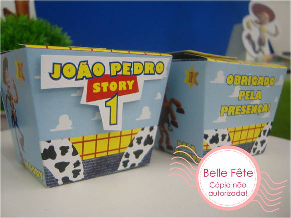 Caixa Box 3D Toy Story