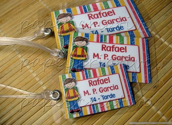 Kit 3 Bagtags - escolar boy/girl