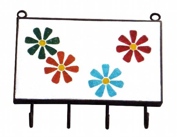 Porta-chaves flores