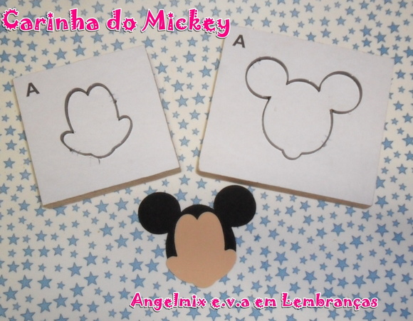 Faquinhas Carinha do Mickey e Minnie