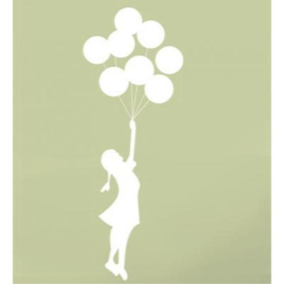 Artesanato Holandes ~ Adesivo menina com balões Adesivos com 3 anos de