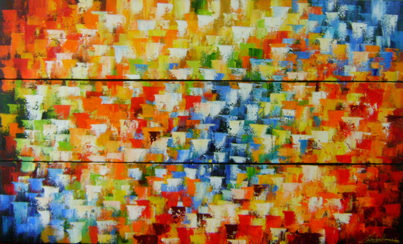 ABSTRATO CADA PAINEL 30X150 Cod 601