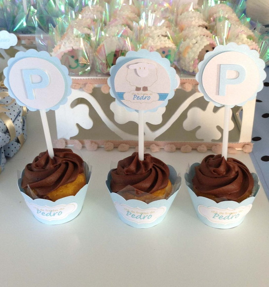 toppers cup cake ovelha
