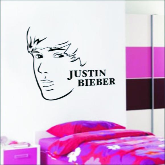 Adesivo De Parede Musical Justin Bieber no Elo7 Paredes decoradas com adesivos (328328)