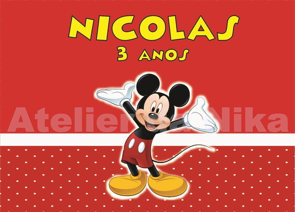 Arte Digital do Mickey