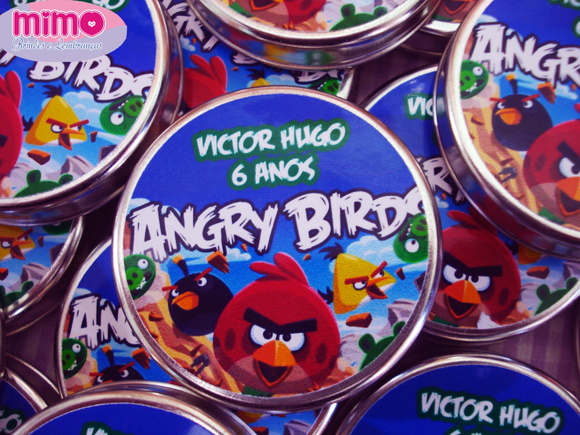 Latinha Mean To Be Tema Angry Birds