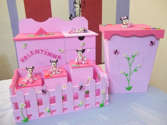 Kit Higiene Minnie Baby