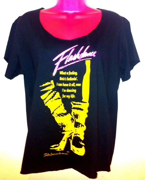 "Camiseta "" Flashdance"""