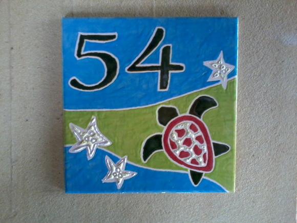 N mero de casa em azulejo no elo7 oficina 778 3362e8 for Azulejo numero casa