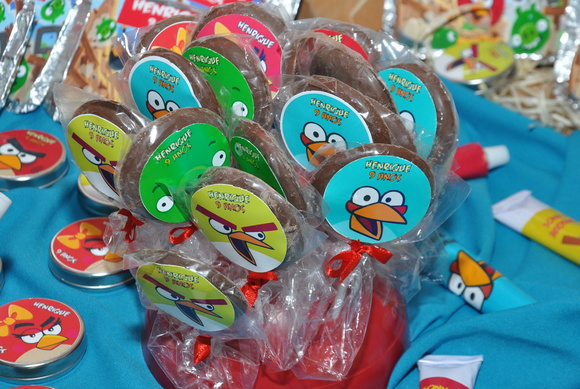 Pirulito chocolate - Angry Birds