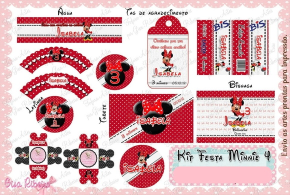 Arte Digital - Kit Festa Minnie 4