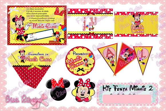 Arte Digital - Kit Festa Minnie 2