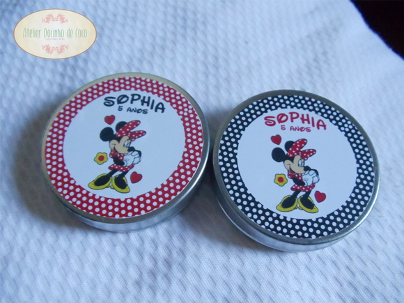 Kit De 100 Latinhas Minnie