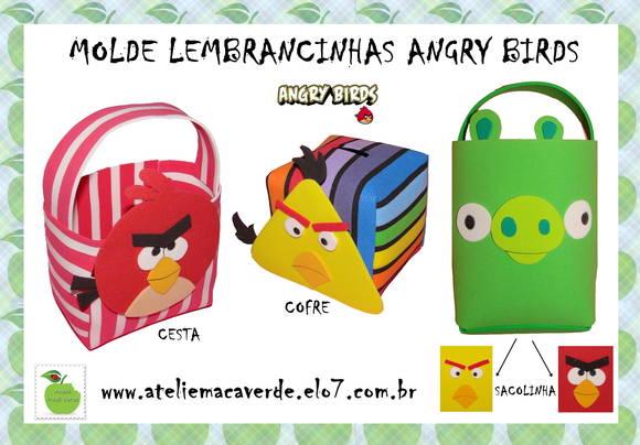Colorido Angry Birds Personagens Vector: Molde Lembrancinhas Angry Birds No Elo7