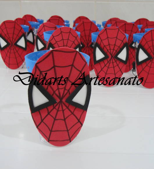 Enfeite de mesa Didarts Artesanato Elo7 -> Enfeites De Mesa Do Homem Aranha