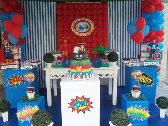 Decoraç u00e3o Os Vingadores!!! Coisinhas da Tia Dani Elo7 # Decoração De Festa Os Vingadores