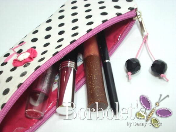 Estojo Make-up P&B and Pink!