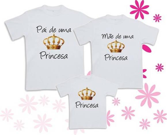 a51ec5ad1 Pai E Mãe de uma Princesa no Elo7   Camiseteria SA (34C036)