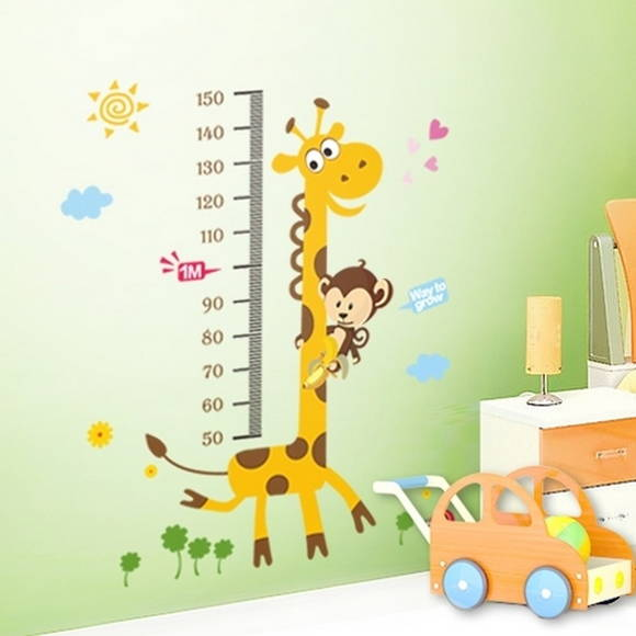 Armario Modular ~ Adesivo Infantil Decoraç u00e3o Parede Girafa Cau Baby& Kids Elo7