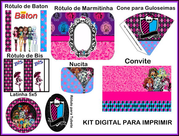 KIT DIGITAL PARA IMPRIMIR No Elo7