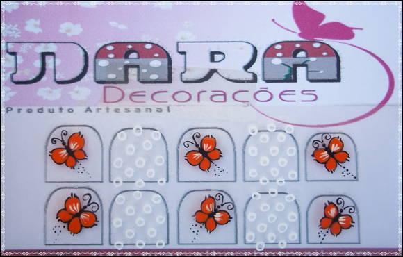 Artesanato Vila Do Conde ~ Adesivo de unha Borboleta Nara Decorações Elo7