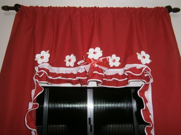 Cortina vermelha com branco no elo7 boutique d arts francine colovini 35331f - Cortina boutique ...