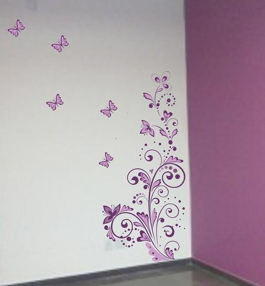 Aparador Ouro Branco ~ Adesivo floral de parede ADESIVOS COMPRAR E COLAR Elo7