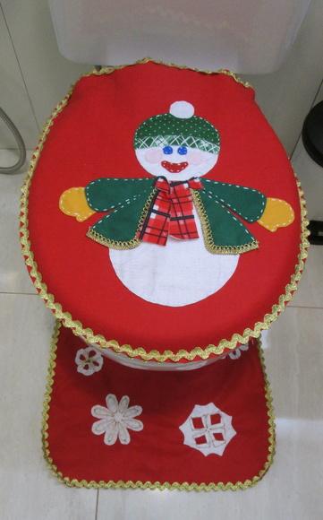 Tapete Natal  Banheiro  Boneco de Neve  Feito Do Meu Jeito  Elo7 -> Boneco Banheiro Feminino