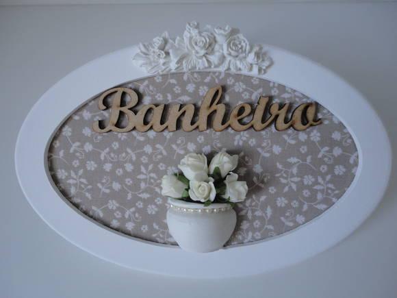 Artesanato Fortaleza Comprar ~ Placa Banheiro no Elo7 Mimoartes (371815)