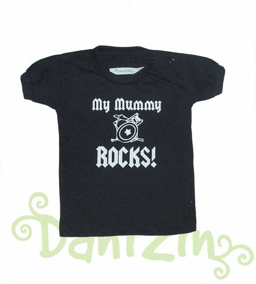 T-Shirt Bebê e Infantil MY MUMMY ROCKS