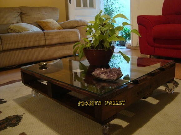 Mesa em pallet katherine projeto pallet elo7 - Mesa centro palet ...