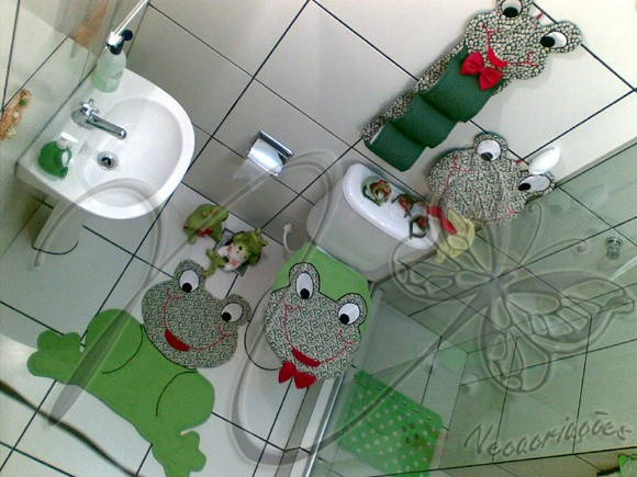 Jogo de Banheiro - Decora??o (JBAN00) Neca Cria??es ...