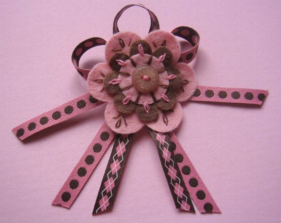 Broche Pink e Brown