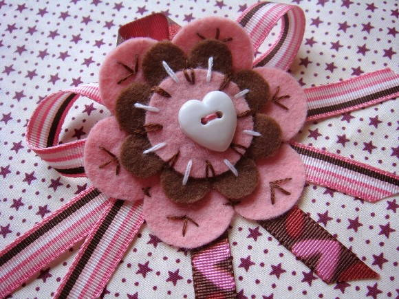 Broche Morango com Chocolate
