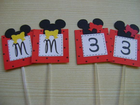 Toppers Scrapbook - Mickey e Minnie