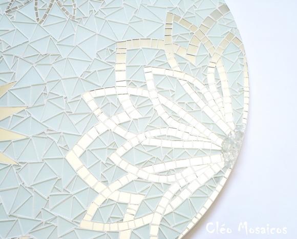 Mandala 70 cm cleo mosaicos elo7 for Cuadros mandalas feng shui decoracion mandalas