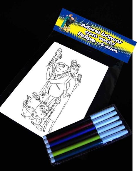 Kit Desenho Para Colorir Meu Malvado Favorito